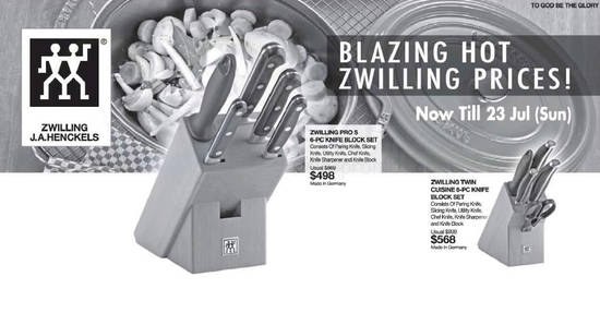 Zwilling J.A.Henckels offers feat 14 Jul 2017
