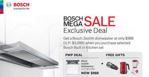 Bosch: Up to 70% off Mega Sale at United Square! From 19 – 20 Aug 2017
