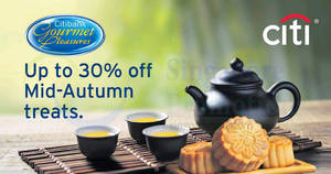 Citibank cards: Up to 30% off Mid-Autumn treats! From 20 Aug – 4 Oct 2017