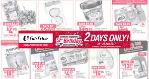 Fairprice two-days offers – Ben & Jerry's at 2-for-$17.95, Anlene, Dove, Dettol, Milo & more! From 19 – 20 Aug 2017
