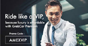 GrabCar Premium: Enjoy $7 savings daily with AMEX cards! From 21 Aug – 31 Oct 2017