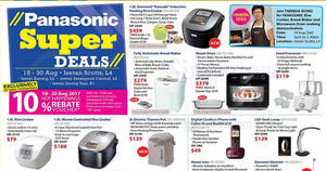 Isetan Panasonic super sale at four locations from 18 – 30 Aug 2017