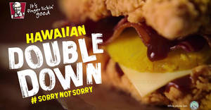 KFC Singapore's Double Down is returning back and better! For a limited time from 18 Aug 2017