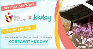 KKday: 15% OFF Korean Attractions and Tours from now till 31 Aug 2017