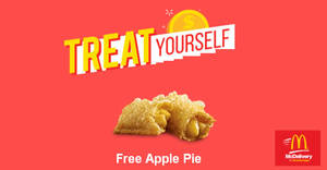 McDonald's Mcdelivery: Free Apple Pie with min $14 spend promo code! Valid from 18 Aug – 3 Sep 2017