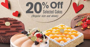 Prima Deli: 20% off selected cakes – Hazelnut Delight, Truffle & more! From 17 Aug – 3 Sep 2017
