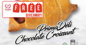 Prima Deli: FREE Chocolate Croissant with Kit Kat giveaway at ALL outlets (except KKH) on 24 Aug 2017, 12pm – 3pm!