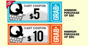 Qoo10: Grab free $5 and $10 cart coupons! From 16 – 17 Aug 2017