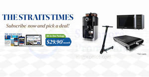The Straits Times: Free gifts for new subscribers when you subscribe online from 11 Jul – 31 Aug 2017