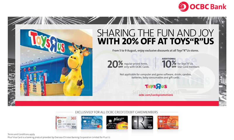 "Toys R Us 20 Off : Toys ""r us off reg priced items storewide for ocbc"