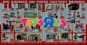 "Toys ""R"" Us: Islandwide half-price specials on nearly 15 items & more! From 23 – 27 Aug 2017"
