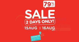 Watsons HQ sale returns with discounts of up to 79% off! From 15 – 16 Aug 2017
