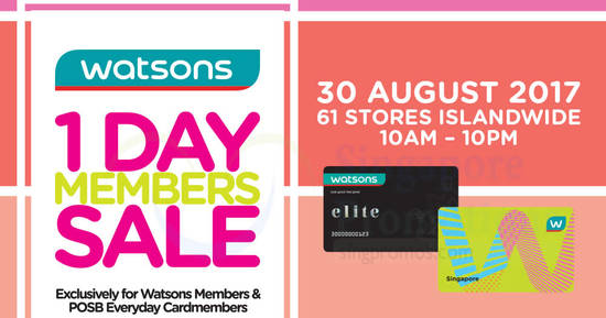 Watsons feat 29 Aug 2017