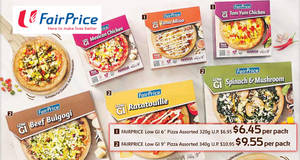 Fairprice new Low GI pizzas from $6.45 onwards! From 22 – 28 Sep 2017
