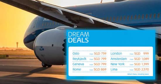 KLM Dream deals 8 Sep 2017