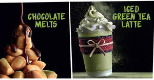 McDonald's McCafe launches new Chocolate Melts & Iced Green Tea Latte from 22 Sep 2017