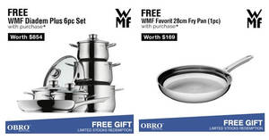 OBRO: Get FREE premium grade WMF cookware promotion! Valid from 1 Sep 2017