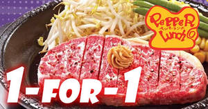 Pepper Lunch's 1-FOR-1 Anniversary Treat returns with 1-for-1 Pepper Steak on 26 Sep 2017