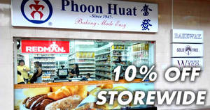 Phoon Huat 10% off storewide sale at all 11 outlets! From 25 – 30 Sep 2017