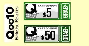 Qoo10: Grab free $5 and $50 cart coupons! From 16 – 17 Dec 2017