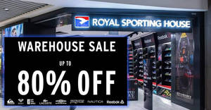 Royal Sporting House up to 80% off warehouse sale! From 18 – 23 Sep 2017