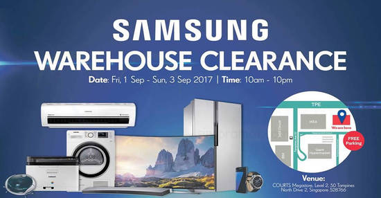 Samsung Warehouse Clearance feat 1 Sep 2017
