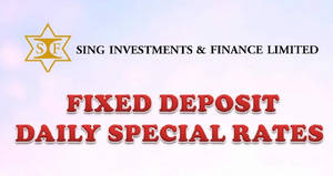 Sing Investments & Finance offers 0.85% to 1.25% p.a. fixed deposits from 19 Sep 2017