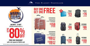The Planet Traveller up to 80% off ultimate travel goods fair! From 26 Sep – 8 Oct 2017