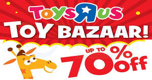 "Toys ""R"" Us up to 70% off toy bazaar! From 29 Sep – 1 Oct 2017"