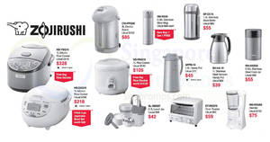 Zojirushi (Airpot, Rice Cooker, etc) offers at OG! From 21 Sep – 4 Oct 2017
