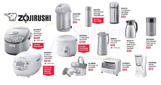 Zojirushi offers at feat 21 Sep 2017