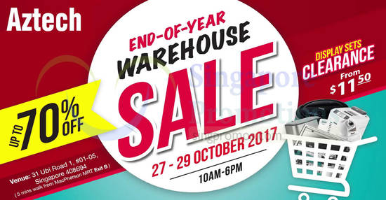 Aztech warehouse sale 10 Oct 2017