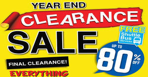 Best Denki up to 80% OFF year end clearance sale! From 18 – 22 Oct 2017
