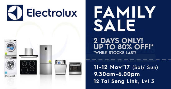 Electrolux Family Sale feat 30 Oct 2017