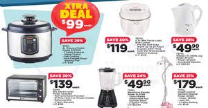 Fairprice Xtra Tefal & Sona home appliances offers! From 19 Oct – 1 Nov 2017