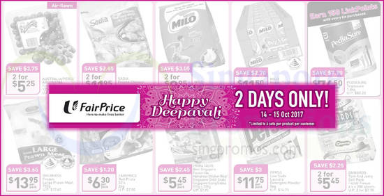 Fairprice twodays offers feat 14 Oct 2017