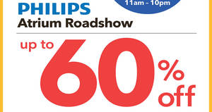 Philips up to 60% OFF atrium roadshow at NEX from 17 – 22 Oct 2017