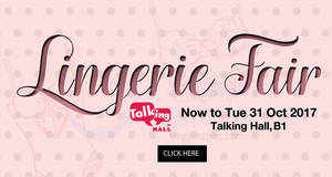 Takashimaya up to 80% OFF Lingerie Fair from 20 – 31 Oct 2017