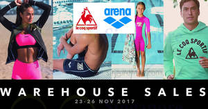Arena's & Le Coq Sportif warehouse sale! From 23 – 26 Nov 2017