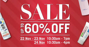 Branded healthcare products (Hada Labo, Oxy, etc) up to 60% off warehouse sale! From 22 – 24 Nov 2017
