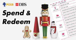 DBS/POSB: Spend & redeem sure-win gifts! From 17 Nov – 31 Dec 2017