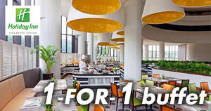 Holiday Inn Singapore Atrium: 1-FOR-1 buffet plus free flow of drinks with NTUC cards! Till 31 Dec 2017