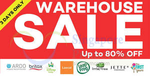 Infantree up to 80% OFF baby warehouse sale! From 22 Nov – 2 Dec 2017