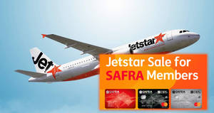 Jetstar: Special fares fr $35 all-in for SAFRA members! Book from 14 – 20 Nov 2017