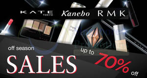 Kanebo, RMK & Kate Tokyo up to 70% OFF warehouse sale! On 21 Nov 2017