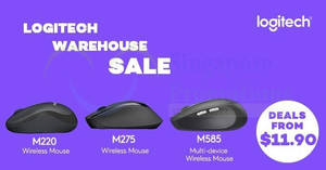 Logitech online warehouse sale – deals from $11.90! From 25 Nov 2017