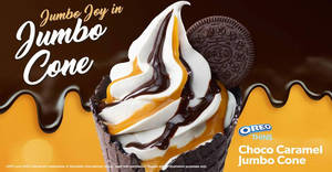 McDonald's new Choco Caramel Jumbo Cone at Dessert Kiosks! From 23 Nov 2017