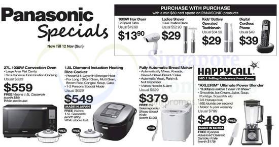 Panasonic home appliances feat 3 Nov 2017