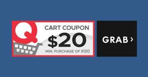 Qoo10: Grab free $20 cart coupons! Valid from 22 – 23 Nov 2017