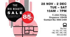 The Big Beauty Sale – Versace, Givenchy, Moschino & more! From 28 Nov to 2 Dec 2017